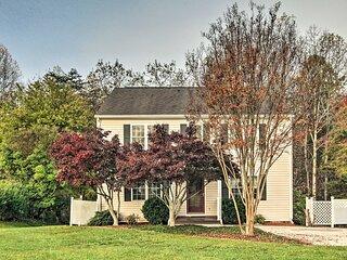 NEW! 'Willow Bend': Quiet Lynchburg Home w/ Deck!
