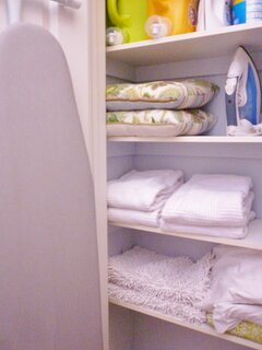 Property is equipped with 100% cotton bed, bath, kitchen linens.  Stackable washer and dryer.