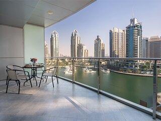 Spacious 1BR w/ Marina Views & Large Balcony!