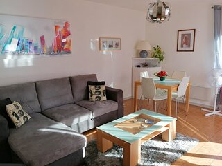 ❤️Spacious flat, terrace, beautiful view⛰ Tram C.Direct access Grenoble #A4