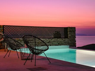 Villa Aqua Marina with a swimming pool & fantastic sea view in the area of Otzia