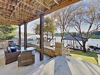 Opulent Waterfront Home | Boat Dock, Hot Tub & Fire Pit | Stunning River View