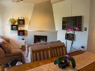 Casa Aconchegante com Lareira e Linda Vista