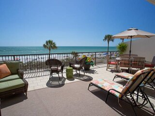 Fantastic Views From The Extra Large Beachfront Terrace. All Updated and Upgrade