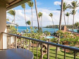 Ocean Views and air conditioning at Napili Shores H-267 - Great views of bay!