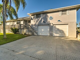 Canalfront Home w/ Private Dock - 5 Mi to Beaches!