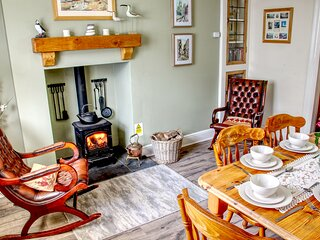 Coble Cottage, Flamborough - Pet Friendly with an Open Fire & Wood Burning Stove