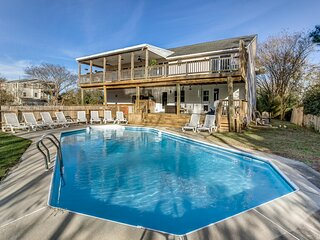 Poolin' Around | 880 ft from the Beach | Private Pool, Dog Friendly