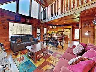 Copper Top Cabin on 4 Acres with Game Room & Hot Tub | Near Cataloochee
