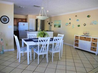 Newly remodeled, repainted, redecorated and refurnished kitchen, dining and living areas