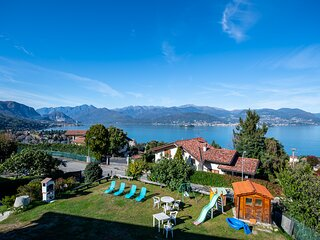 Kenya apartment on the first hill over Stresa with wonderful  lakeview