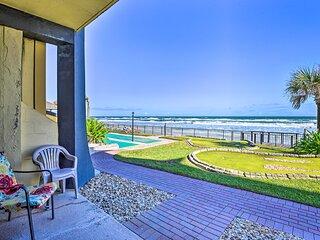 Oceanfront Resort Condo Steps to Daytona Beach!