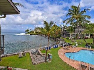 Oceanfront Honokeana Cove w.Turtles! Unit #204 Air cond 1 bdr+loft bdr, 2 ba