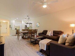 Newly Listed & Renovated Pelican Bay condo w/modern decor, private garden views