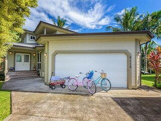 Beautiful Spacious Luxury Hanalei Home with Air Conditioning.  TVNC #5128
