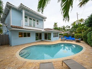 Luxurious Home w/ Private Deck & Heated Pool - 7-Minute Walk to Beach