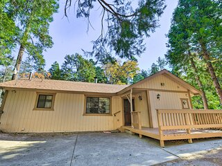 NEW! Cabin w/ Pool Table < 1 Mi to Lake Gregory!