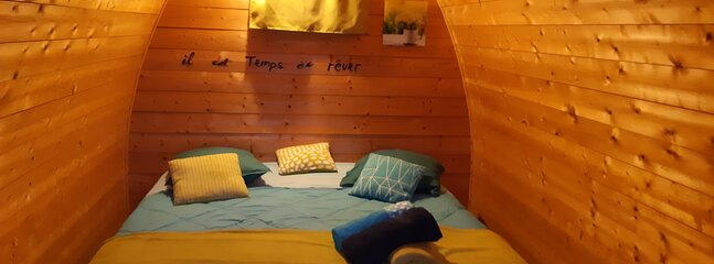 Cahute nid2 camping confort a côté du gite la maison ronde