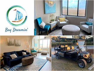 Bay Dreamin' - Fabulous Bay View Condo for 7 - Includes Golf Cart!