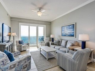 New Listing! Top Penthouse Floor, Large Balcony with Spectacular Gulf Views!