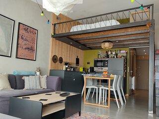 Élégant appartement 36m² + mezzanine 9m² proche commerces et équiments sportifs