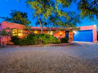 Private Single Level Oasis With Pool and Mountain Views, Vibrant Colors, About 1