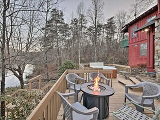 NEW! Spacious Waterfront Retreat w/ Dock & Hot Tub