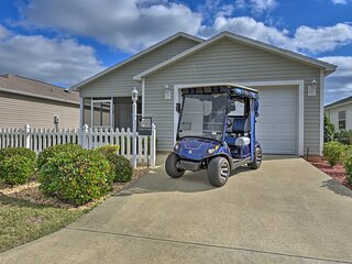 NEW! Modern Central Villages Cottage w/ Golf Cart!