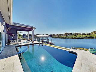 Waterfront Home | Pool, Hot Tub & Home Theater | Fishing Dock with Kayaks