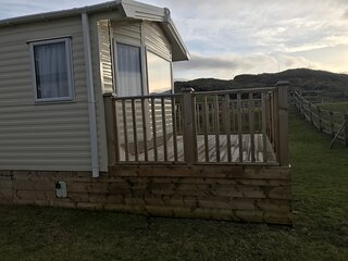Luxury self catering caravan on the NC500. Close to a stunning beach.
