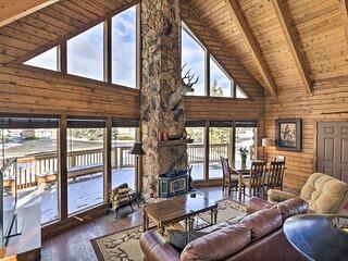 NEW! Village Lake Rustic Cabin Escape w/ Deck!