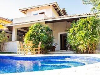 Casa Linda perto da Praia, Piscina c/ Hidro e Wifi