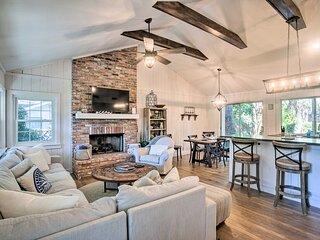 NEW! Charming Cottage w/ Porch, < Half Mi to Beach