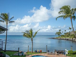 Unit #207 Oceanfront 1 bdr+loft bdr! Honokeana Cove panorama. Swim w.Turtles.