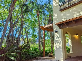 Charming Corner Beach House, one block from the beach w/ private heated pool