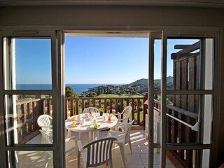 Cap Esterel Village - 3 pieces mer terrasse - C4 - 400la