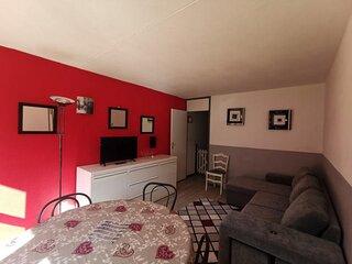 Appartement deux pieces 6 personnes, residence Mongie Tourmalet
