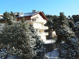 Grand appartement plein sud pour 10 personnes proche pistes, forêt et golf