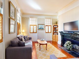 Dog-friendly home w/ AC, fireplace & W/D - one block to King Street dining!