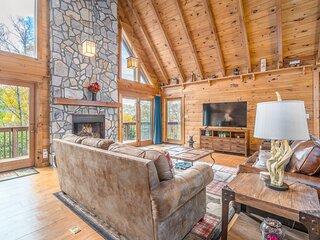 Stunning cabin near the mountain w/ wraparound deck, firepit, free WiFi, & more!