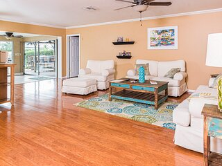 Waterfront home with private pool, high-speed WiFi, central AC, & washer/dryer
