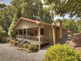 Our cabin in the woods- plenty of parking in the gravel parking area in front of the home.