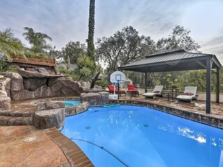 NEW! Chic Whittier Oasis w/ Private Pool + Hot Tub