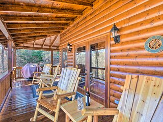 NEW! Coosawattee River Cabin: Game Room + Hot Tub!