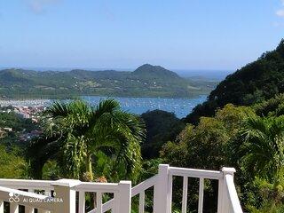 La MIGALINE Villa creole avec vue imprenable sur la mer des Caraibes
