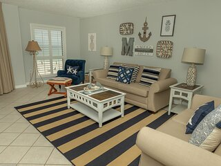 IR 304 - Lovely 2 BR on the Beach with Great Gulf views and larger balcony
