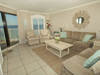 IR 403 is a Beautiful 2 BR Gulf Front with Washer Dryer over 1300 sf