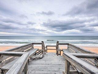NEW! Beachfront Oasis w/ Game Room & Ocean Views!
