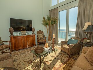 Silver Beach Towers 1905E is a Gulf Front 3 BR Penthouse - views are spectacular
