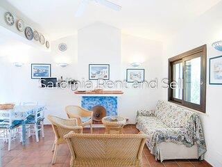 Chia, Villa Acquamarina, 6 persone, 150 metri dal mare, aria condizionata